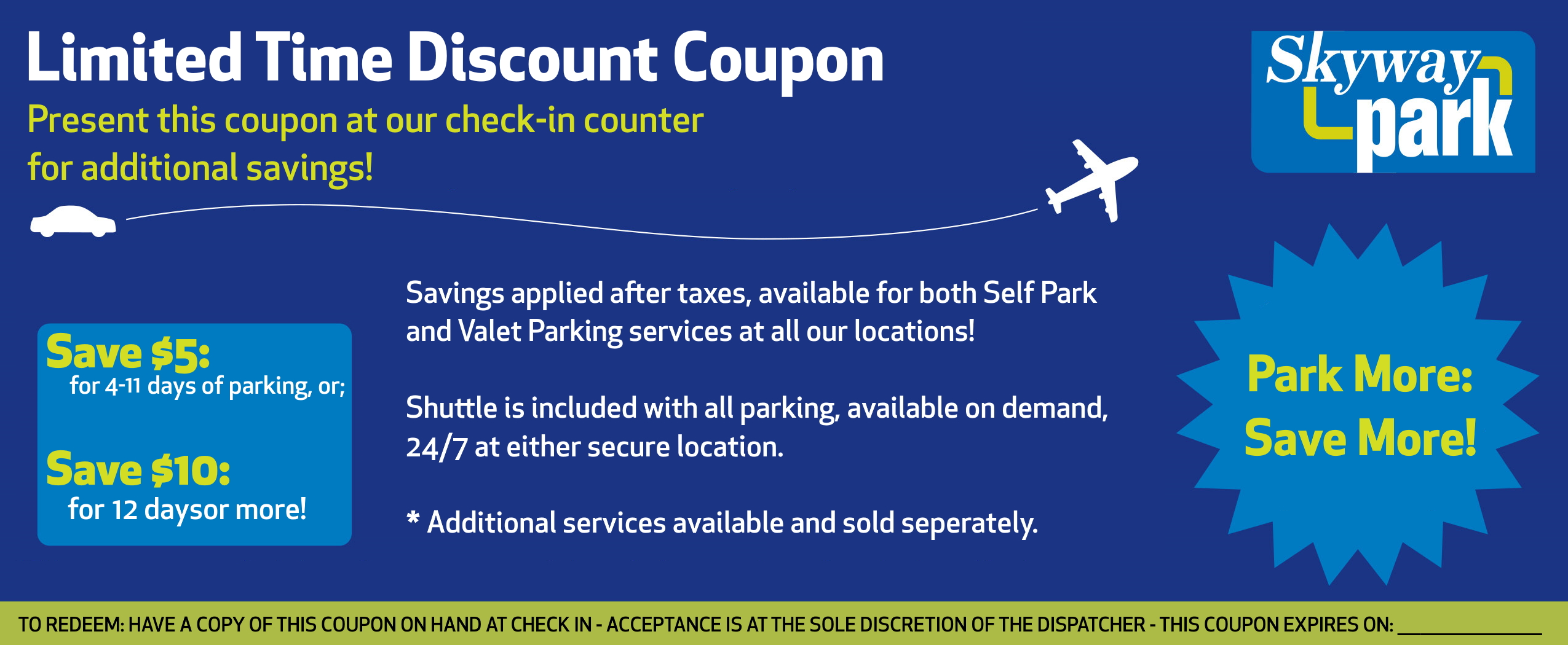 Parking Coupon Front