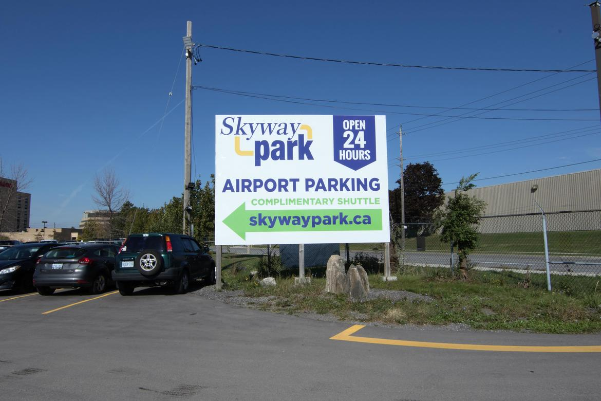 Entrance Sign at Skyway Park